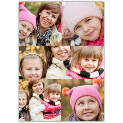 Six Photos Collage Card