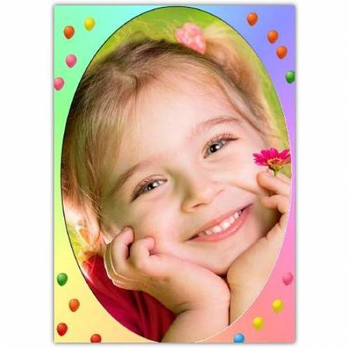 Photo On Floating Balloons Card