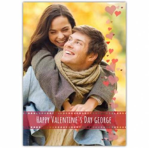 Happy Valentines Day Name And Photo Card