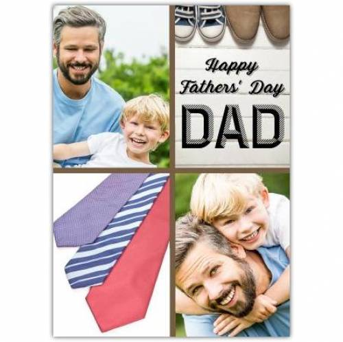 Fathers Day Two Photos Ties And Shoes Card
