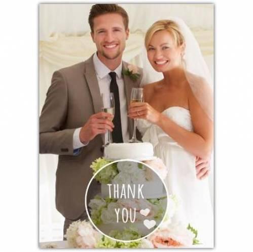 Thank You Wedding Photo Card