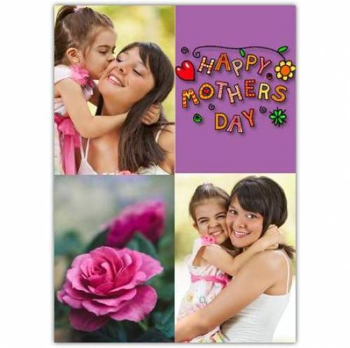 Mothers Day Two Photos Flowers Card