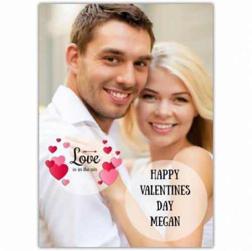 Valentines Love Is In The Air Hearts Card