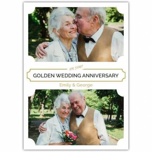 Golden Anniversary Two Photos Card