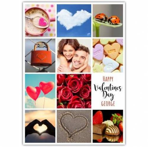 Valentines Day Single Photo Collage Card