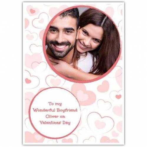 To My Wonderful Boyfriend Circle Photo Card