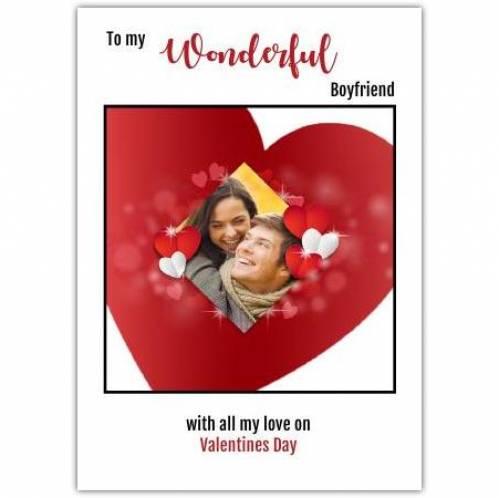 Wonderful Boyfriend Photo Heart Card