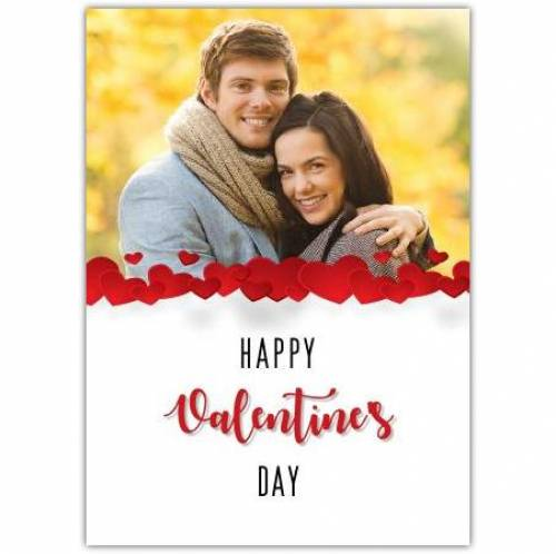 Hearts Photo Half Page Valentines Day Card