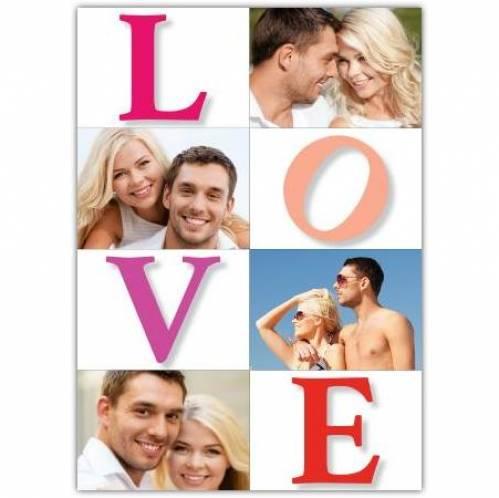 Love Three Photo  Card