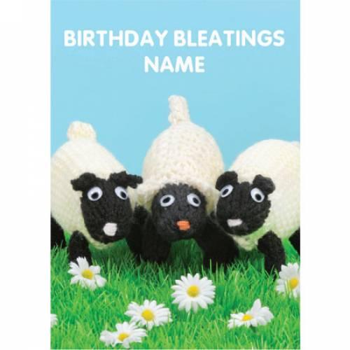 Birthday Bleatings Personalised Greeting Card