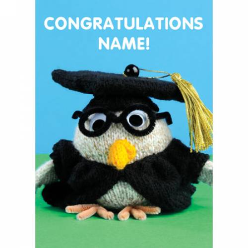 Congratulations Owl Greeting Card