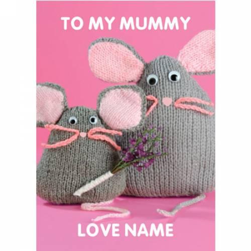 To My Mummy Mice Birthday Card