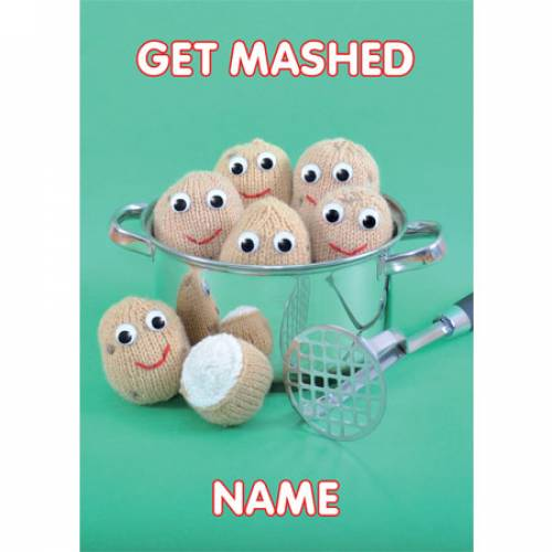 Get Mashed Knitted Potatoes Greeting Card