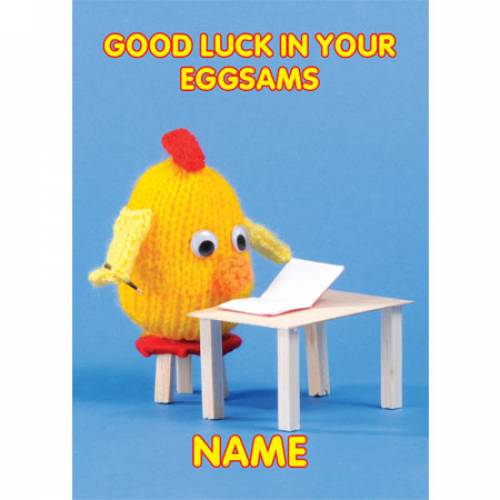 Good Luck In Your Exams - Eggsams! Greeting Card