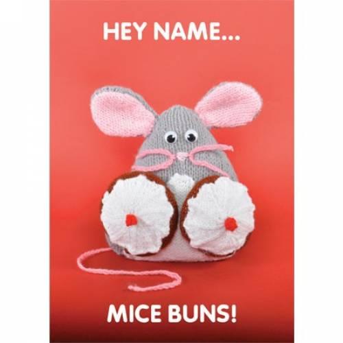 Hay Name - Mice Buns! Greeting Card