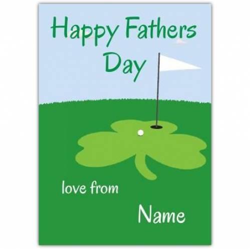 Shamrock Golf Happy Father's Day Card