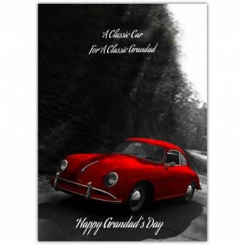 Classic Grandad Happy Grandad's Day Greeting Card