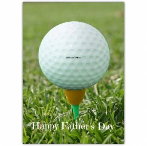 Golf Ball Insert Message Father's Day Card