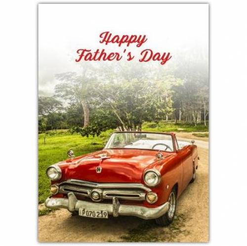 Vintage Open Top Car Father's Day Card