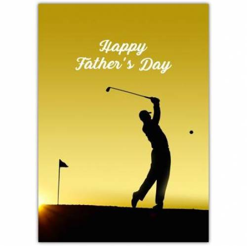 Golfer Silhouette Happy Father's Day Card
