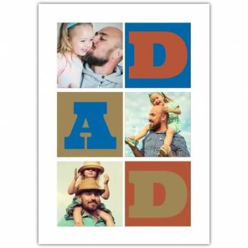 Three Photo Dad Greeting Card