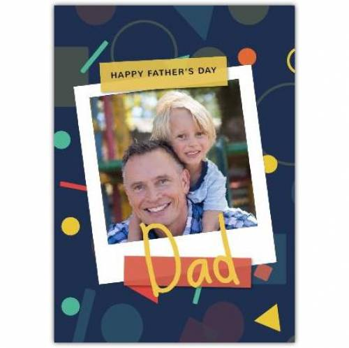 Happy Father's Day One Photo Shapes Greeting Card