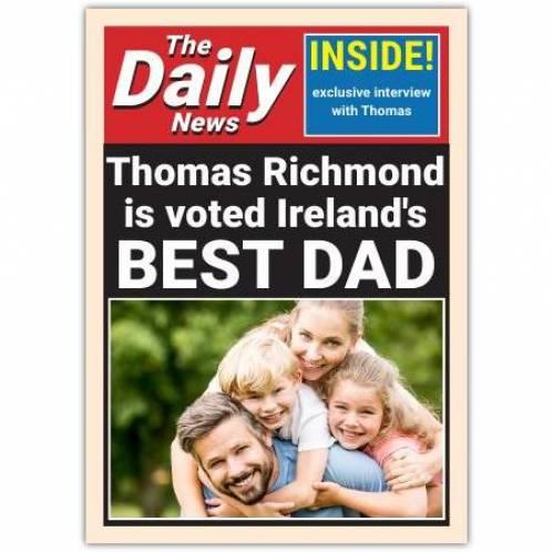 Daily News Newspaper Ireland's Best Dad Card