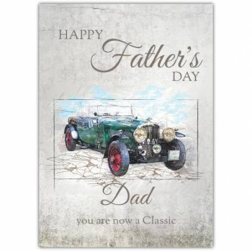 Vintage Classic Motor Car Father's Day Card