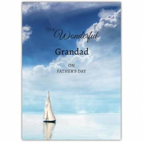 Wonderful Dad Sailing Boat Father's Day Greeting Card