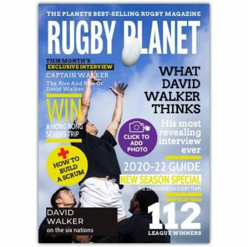 Rugby Planet Magazine One Photo Greeting Card