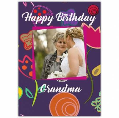 Purple One Photo Any Relation Birthday Card