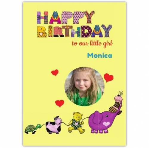 Happy Birthday To Our Little Girl Card