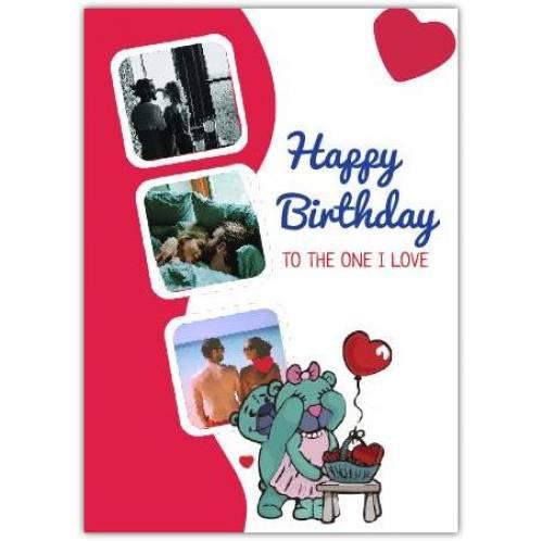 Heart Birthday Bear Greeting Card