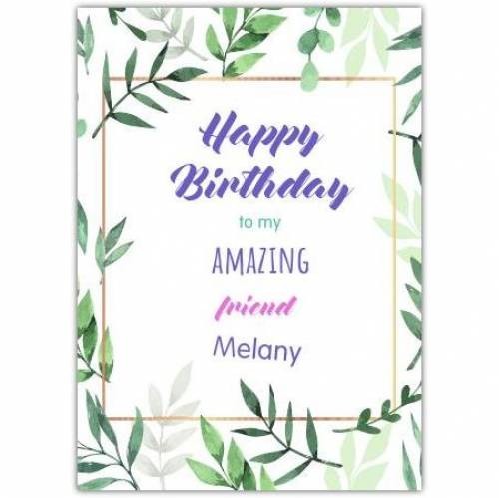 Happy Birthday Amazing Relation Card