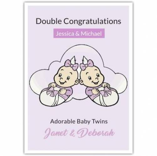 Double Congratulations Adorable  Card